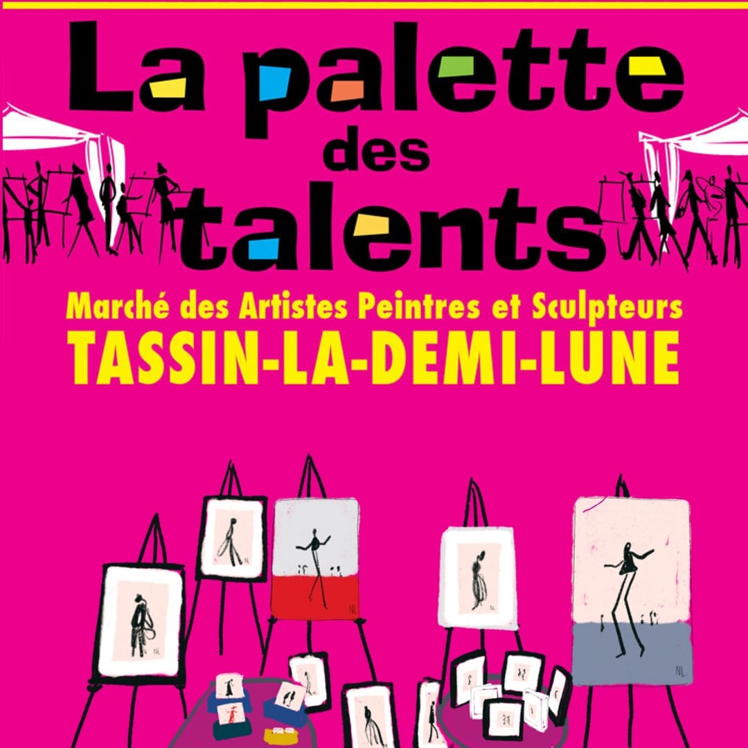 Noémie Labrosse exhibits for the 15th anniversary of Palette de Talents in Tassin La Demi-Lune (69)