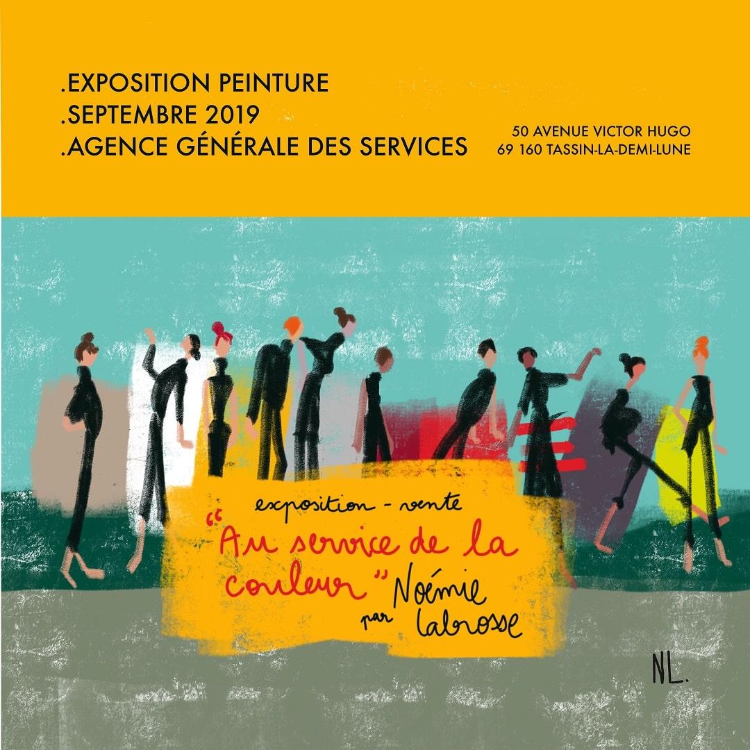 Exposition « Au service de la couleur » à Tassin La Demi-Lune – septembre 2019